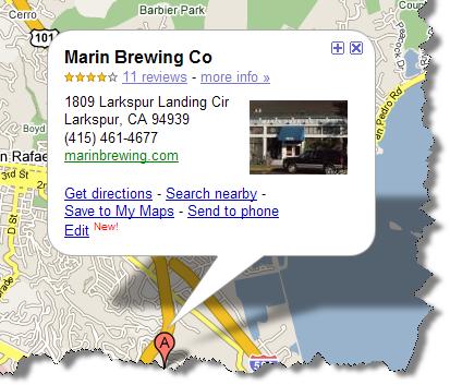 Google Map - Marin Brewing Company